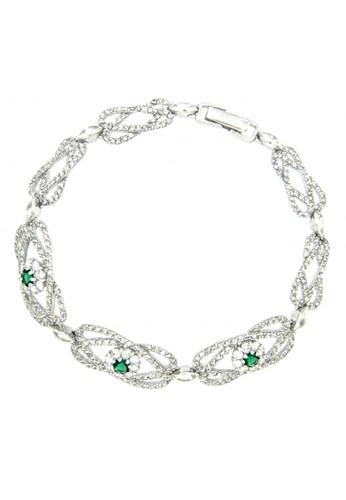 Silverworks silver Flower Design Silver Bracelet SI696AC99TVWPH_1