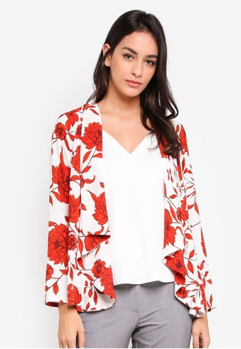 Dorothy Perkins white and multi Cream And Red Floral Cover Up BBD1CAACCD7BC3GS_1