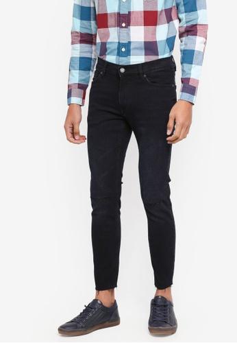 MANGO Man 藍色 Ripped Details Dylan Jeans 29D10AAE4D78ADGS_1