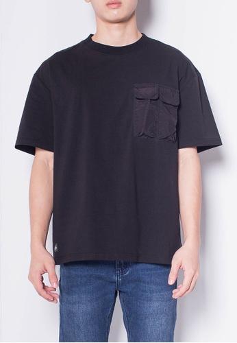 SUB black Men Short-Sleeve Woven Flap Pocket Fashion Tee F622EAA4E5E870GS_1