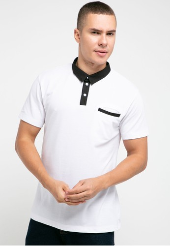 Tolliver white Cotton Colar Polo Shirt B4C71AA52705F4GS_1