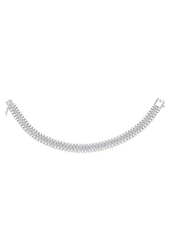 SC Tom Silver silver Strip Men's Stone Bracelet SC872AC98NHHPH_1