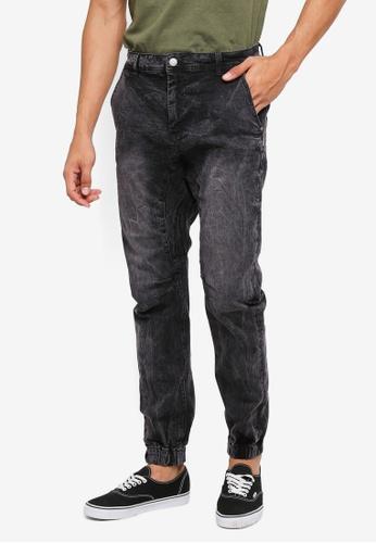 Cotton On 黑色 縮口修身牛仔褲 FCF8AAABD56402GS_1