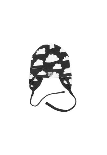 KIDSTOPIA black KIDSTOPIA FF Beanie With Earflaps - Moln - Black 9C6BAKCD5EECF4GS_1