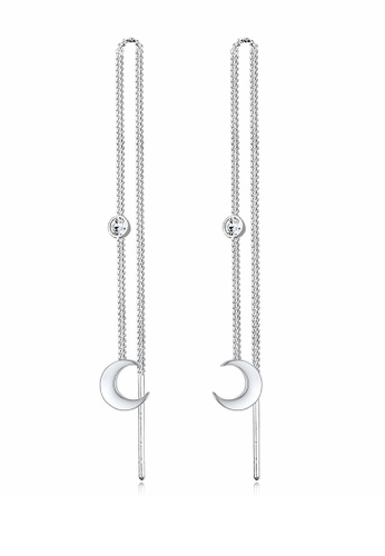 ELLI GERMANY silver Earrings Solitaire Crescent Astro Basic Crystals 475C9AC45026F6GS_1