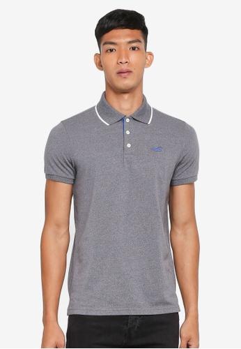 Hollister grey Tipped Polo Shirt 80691AA925B761GS_1