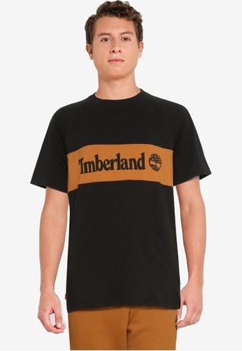 Timberland black YC SS Cut & Sew Tee (Regular) 1D0A7AA7078C68GS_1