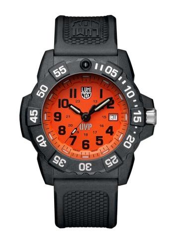 Luminox orange Luminox Scott Cassell Black and Orange Rubber Watch 58273AC0FC4552GS_1