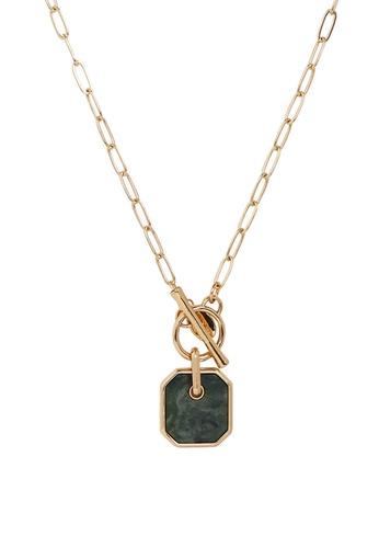 Mango green Pendant Long Necklace 3F4A3AC5BA6B4DGS_1