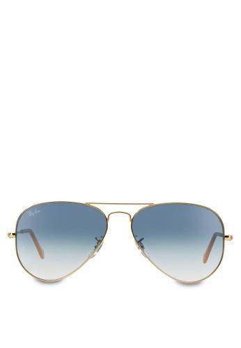 cc37ccdd65 Ray-Ban yellow Aviator Large Metal RB3025 Sunglasses RA370GL57RZQSG 1