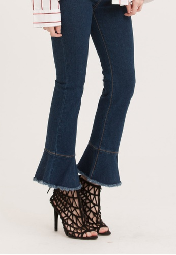 H:CONNECT blue Flare Hem Jeans 1B94BAA3AB23EBGS_1