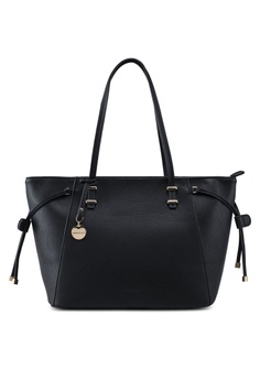 413591b94359 Forever New black Ally Structured Tote Bag 838A8AC62A3037GS 1