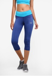 2GO blue and navy Dry-Fit Training Capris 2G729AA0S5V4MY_1
