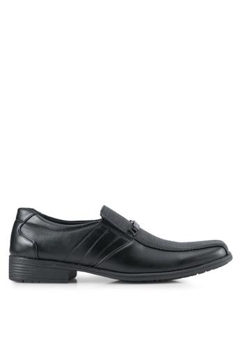 Rocklander black Textured Dress Shoes RO978SH0SMMFMY_1