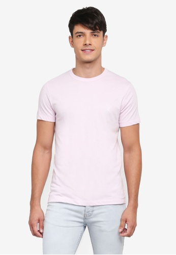 French Connection pink Classic Crew Tee D86C2AAA6A3D6AGS_1