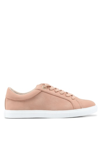 TOPSHOP 米褐色 Cookie Lace Up Trainers 10AD1SH6604045GS_1