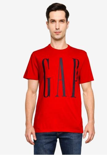 GAP red Corp Logo T-Shirt 20A24AA88260D8GS_1