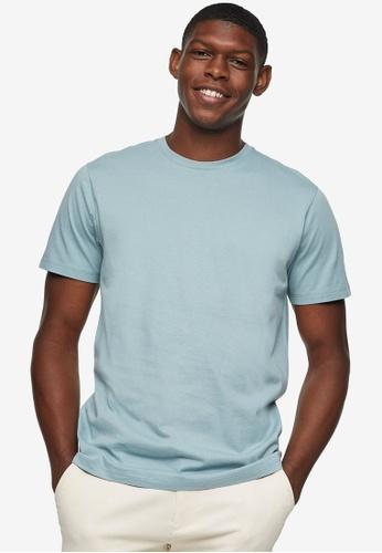 Topman blue Light Blue Classic T-Shirt A3157AAEEF79EBGS_1