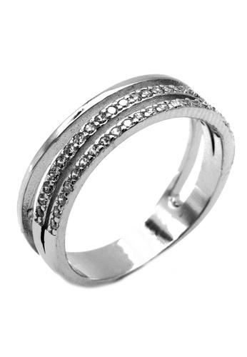Elfi silver Elfi 925 Sterling Silver Engagement Wedding Fashion Ladies Ring P68 3B1D9AC8D1FBBBGS_1