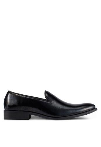 ZALORA black Patent Cocktail Dress Loafers BE77FAA2B97F37GS_1