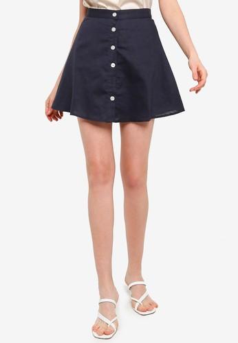 Charlie Holiday navy Harlow Skirt 012FDAA9DD41A5GS_1