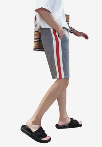hk-ehunter grey Men Elastic Waist Shorts EC151AA375BCA2GS_1