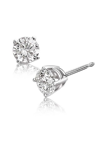CELOVIS silver Round Cut Cubic Zirconia Solitaire Stud Earrings (0.23 ct) CE446AC54LVTMY_1