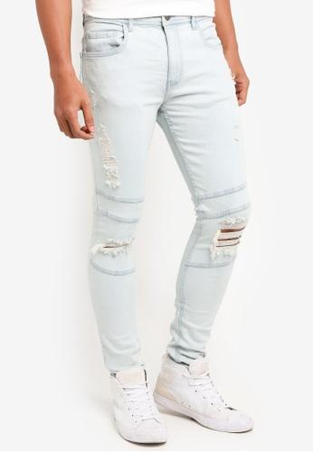 Cotton On 藍色 Super 緊身牛仔褲 489CCAA825A2C5GS_1