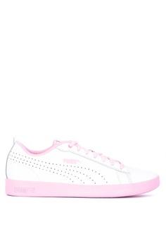 fab148be Puma white Smash Women's V2 L Perf Lifestyle Sneakers EFCB0SH138B94BGS_1