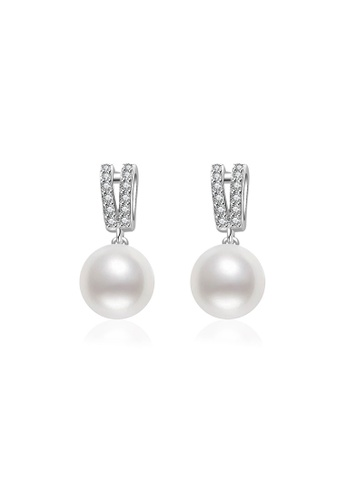 Pearly Lustre silver Pearly Lustre Elegant Freshwater Pearl Earrings WE00061 3BCA4AC29991C1GS_1
