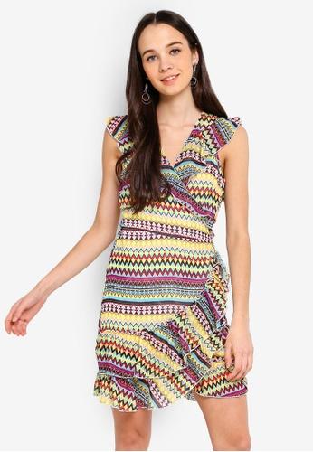 Cotton On multi Woven Millie Wrap Dress 345C6AA6B419DEGS_1