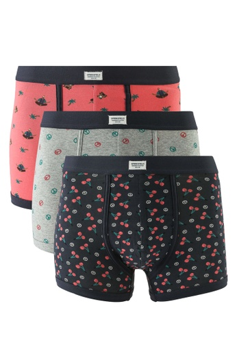 Springfield pink 3-Pack Hippy Boxers D6135USE8E5F9EGS_1