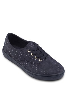 Studded Laced Up Sneakers