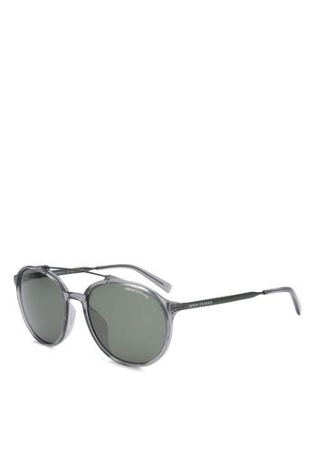 Armani Exchange grey Armani AX4069SF Polarized Sunglasses AR162GL0SEQ1MY_1