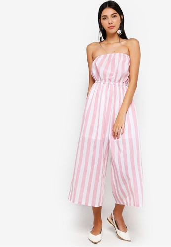 ZALORA red and multi Bandeau Jumpsuit 18141AAE64285DGS_1