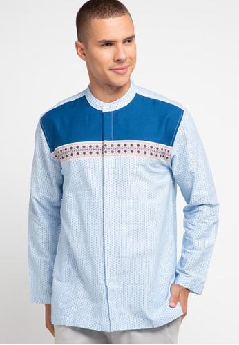 Zehavi blue Ghadi Printed Long Sleeve Koko 6F802AACDA89F3GS_1
