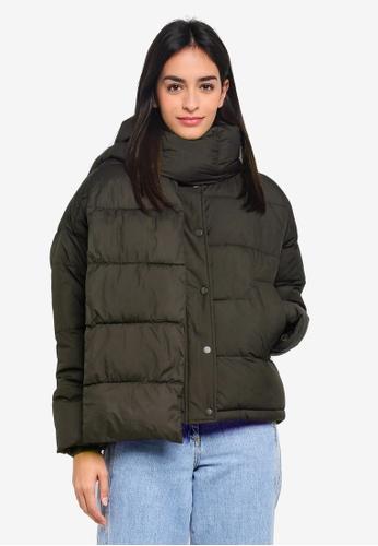 Vero Moda green Scarf Short Puffer Jacket 630A9AA6814FFCGS_1