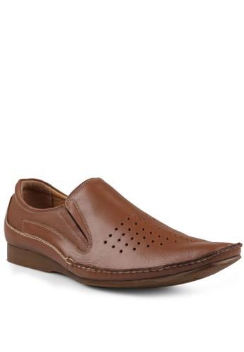 Marelli Men Rome Leather Shoes Khasmir