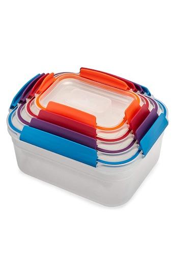 Joseph-Joseph multi Nest Lock 4-Piece Container Set, Multicolor 936D5HL3609141GS_1