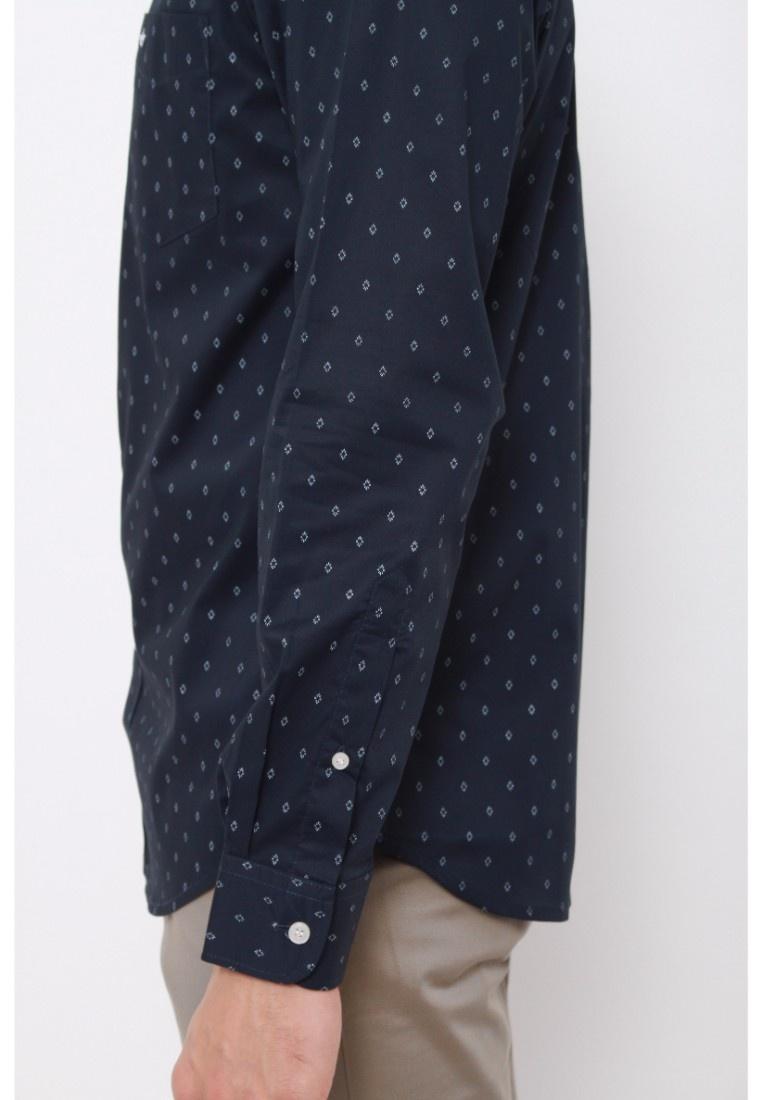 Wrinkle Shirt Medieval No Dockers Blue Dockers Blue Long Stretch Medieval Sleeve waqUnx7X
