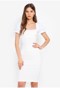 19673313cb4 Vesper white Effie Bodycon Dress 8E4B1AAF5B4371GS 1