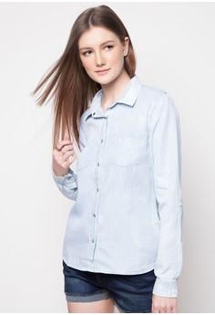 Chambray Long Sleeved Shirt