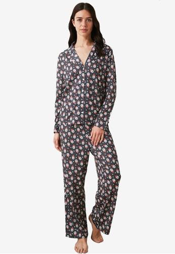 Trendyol multi Print Shirt Pajamas Set F28CCAACD4C4F3GS_1