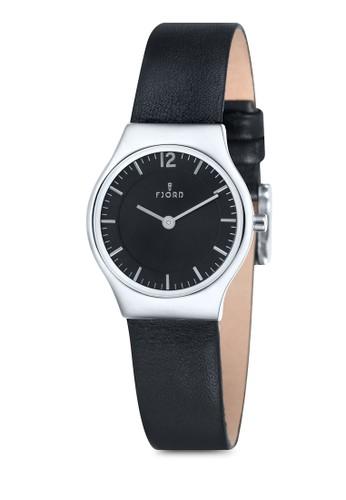 esprit 衣服EDLA 雙指針皮革錶, 錶類, 飾品配件