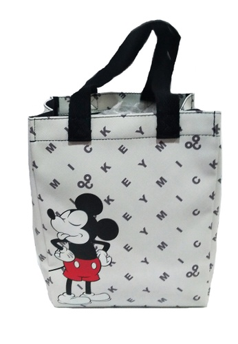 Disney Mickey white Disney Mickey Mouse 90TH Year PU Lunch Bag (White) CA25DKC11CE515GS_1
