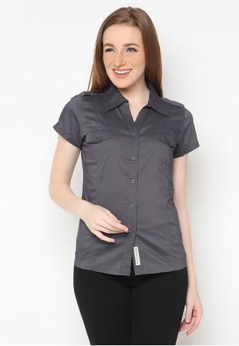 Mobile Power grey Basic Shirt Short Sleeve Grey Mobile Power Ladies - E8345H 169D2AA6FF2ABBGS_1