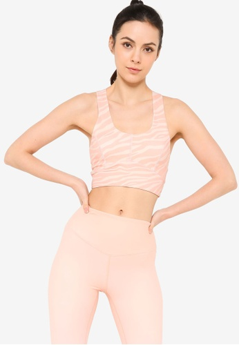 L'urv pink Open Oasis Crop Sports Bra 4417CUSE5C2203GS_1