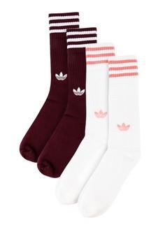 detailed look 2995b d8192 adidas multi adidas originals solid crew socks 2 pairs F0F88ACD36F31FGS1