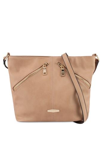 Perllini&Mel beige Faux Leather Sling Bag 8220CAC255E524GS_1