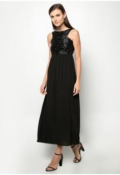 Veronica Sequin Long Dress